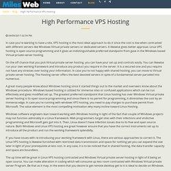 High Performance VPS Hosting - MilesWeb-Hosting