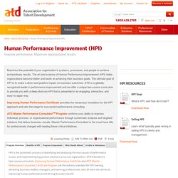 Human Performance Improvement (HPI) Programs - ATD