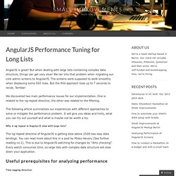 AngularJS Performance Tuning for Long Lists