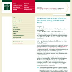 Key Performance Indicator Handbook for Libraries Serving Print Disabled People