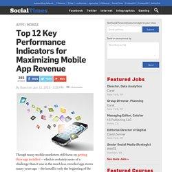 Top 12 Key Performance Indicators for Maximizing Mobile App Revenue