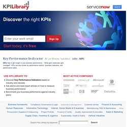 KPI Library - Discover the right Key Performance Indicators