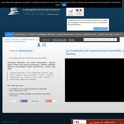Les fondements de la performance industrielle Sébastien RonteauTV DMA est la 1ère Web TV du Management et Droit des Entreprises