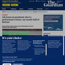 Job losses in pandemic due to performance issues, say nearly half of Britons
