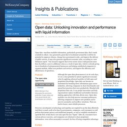 Open data: Unlocking innovation and performance with liquid information