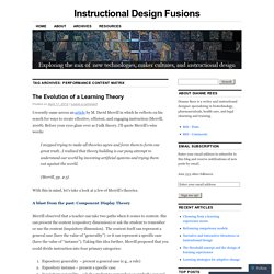 Instructional Design Fusions