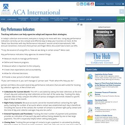 Key Performance Indicators - ACA International