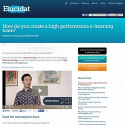 How do you create a high performance e-learning team? > Elucidat