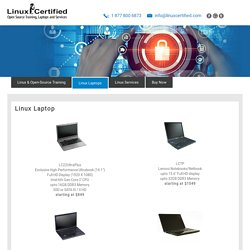 Linux Laptop - Fully Supported & Configured High Performance Linux Laptops and Netbooks