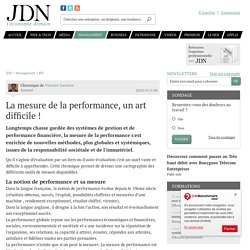 La mesure de la performance, un art difficile !
