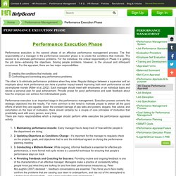 Performance management system PMS – Execution Phases of PMS