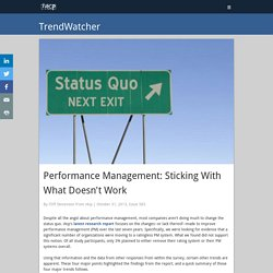 Performance Management: Sticking With What Doesn't Work