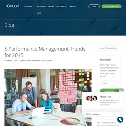 5 Performance Management Trends for 2015 - OKRs and Continuous Performance Management