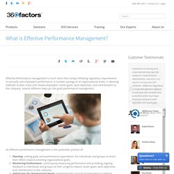 What is Effective Performance Management?