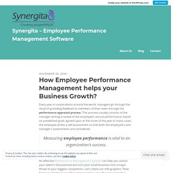 How Employee Performance Management helps your Business Growth? – Synergita – Employee Performance Management Software