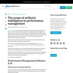 Blog - Scope of AI in performance management