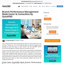 Branch Performance Management Software - Free Demo