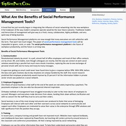 What Are the Benefits of Social Performance Management Tools?