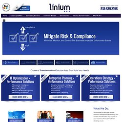 Linium - Identify. Implement. Innovate. - linium