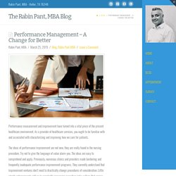Performance Management – A Change for Better