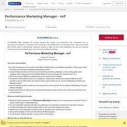 Praca Performance Marketing Manager - m/f, Wrocław, dolnośląskie - oferta pracy (4356857)