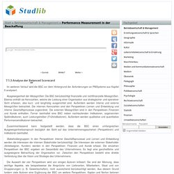 Analyse der Balanced Scorecard - Performance Measurement in der Beschaffung - Studlib - freie digitale bibliothek