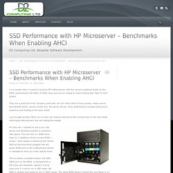 SSD Performance with HP Microserver – Benchmarks When Enabling AHCI