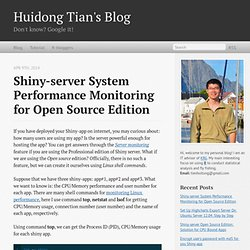 Shiny-server System Performance Monitoring for Open Source Edition - Huidong Tian's Blog