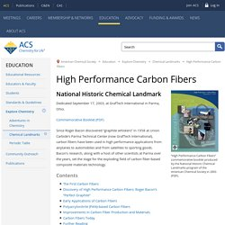 High Performance Carbon Fibers - National Historic Chemical Landmark