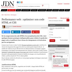 Performance web : optimiser son code HTML et CSS