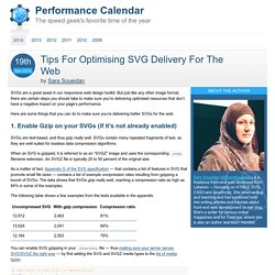 Tips For Optimising SVG Delivery For The Web