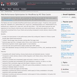 WordPress Optimization | W3 Total Cache | W3 EDGE | Boston, MA