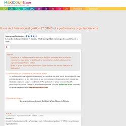 La performance organisationnelle