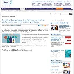 Travail & Changement. Conditions de travail et performance des organisations publiques
