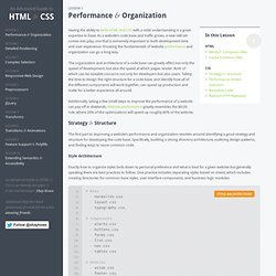 Performance & Organization - An Advanced Guide to HTML
