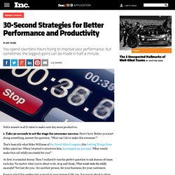 30-Second Productivity Strategies