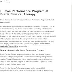 Human Performance Program at Praxis Physical Therapy