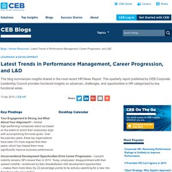 Latest Trends in Performance Management, Career Progression, and L&D