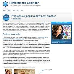 Progressive jpegs: a new best practice