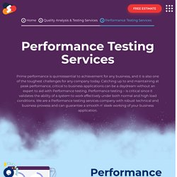 Top-notch Performance Testing Services At Shiv Technolabs