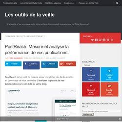 PostReach. Mesure et analyse la performance de vos publications – Les outils de la veille