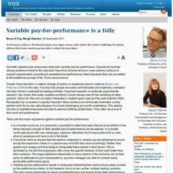 Why performance-related pay should get the sack