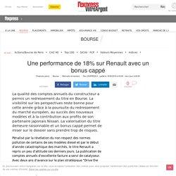 Une performance de 18% sur Renault avec un bonus cappé