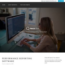 Performance Reporting Software