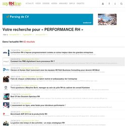 PERFORMANCE RH - Recherche RH, Ressources Humaines