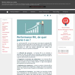 Performance RH, de quoi parle-t-on ? - Meta4