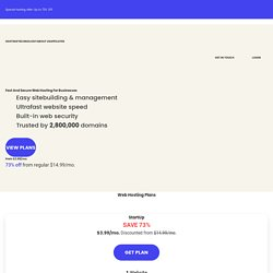 Web Hosting Crafted For Top Website Performance & Satisfaction