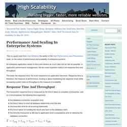 Performance and Scaling in EnterpriseSystems