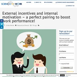 External incentives and internal motivation – a perfect pairing to boost work performance! • ScienceForWork