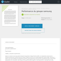 Performance du groupe samsung - Rapport de Stage - Siliabelamri1